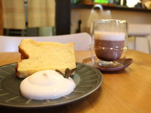 Cafe alivio シフォンケーキセット